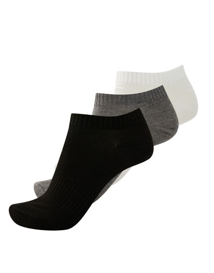 Pack of 3 sports ankle socks