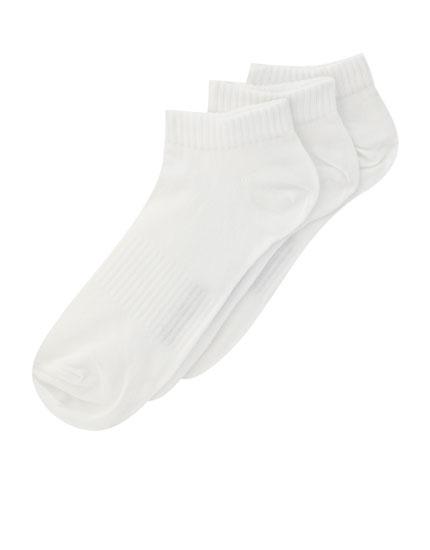 Pack 3 calcetines tobilleros blancos