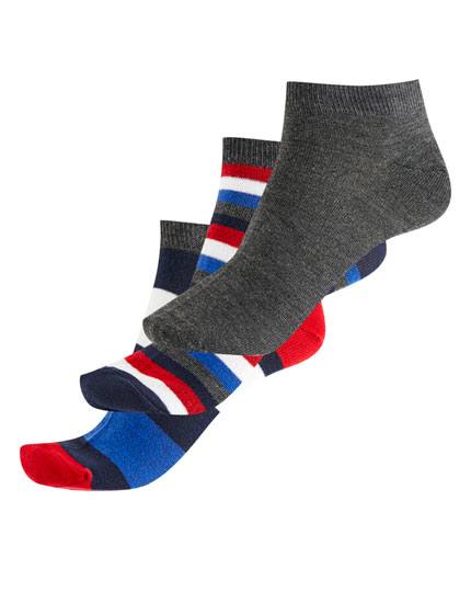 Pack of 3 striped short socks