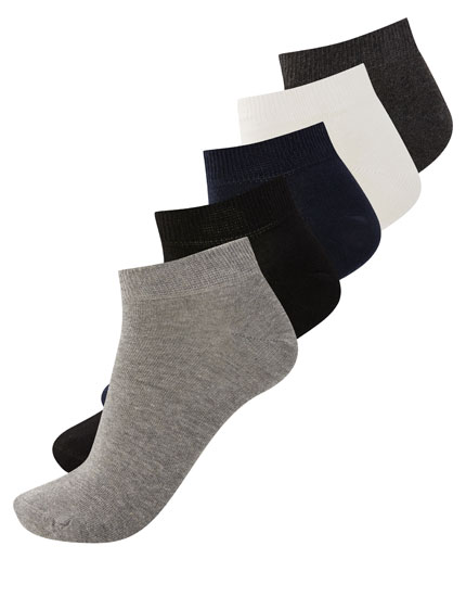 5-pack of short coloured socks