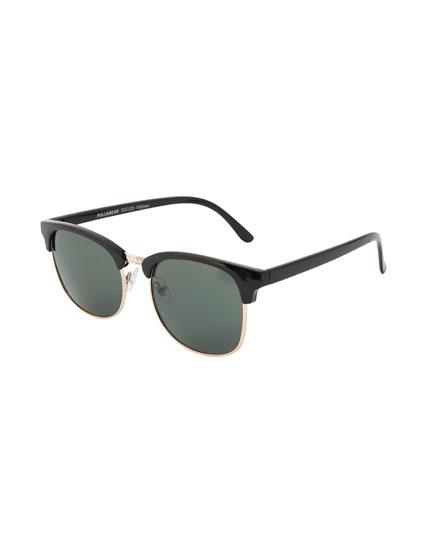 Resin and metal sunglasses