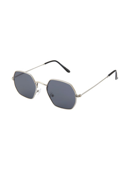 Silver geometric sunglasses