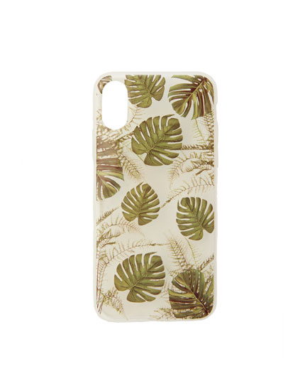 Capa smartphone com estampado tropical