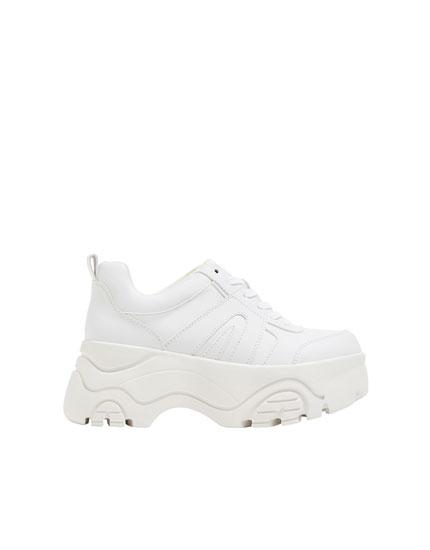 Modischer Plateau-Sneaker - PULL\u0026BEAR