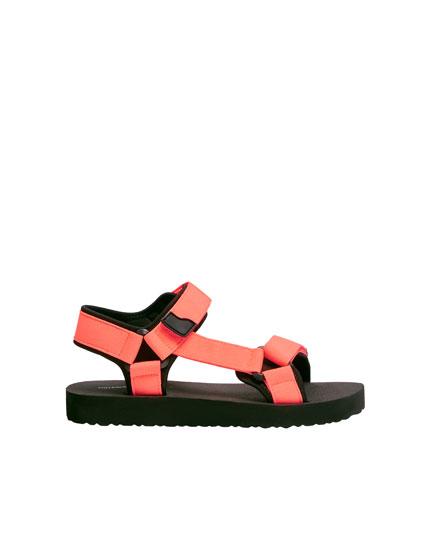 Fluor sporty sandaal