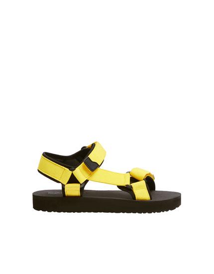 Neon sports sandals