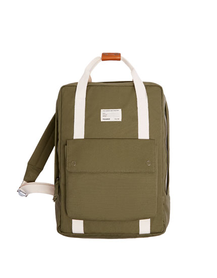 Coloured fabric backpack