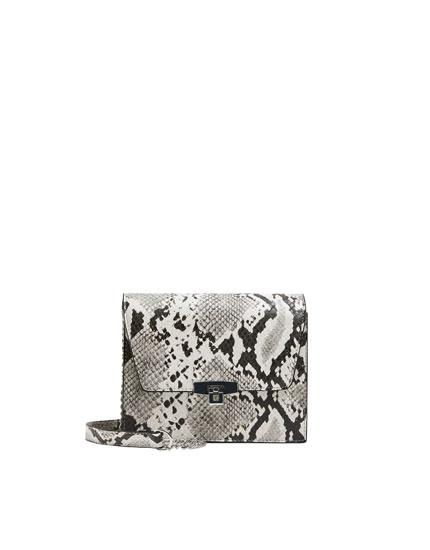 Snakeskin print crossbody bag