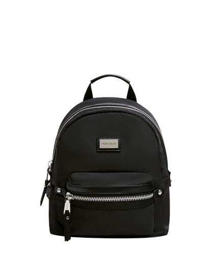 Backpack with neon interior