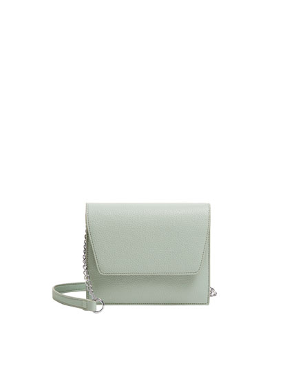 Green crossbody bag with flap