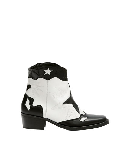 Fashion cowboy ankle boots
