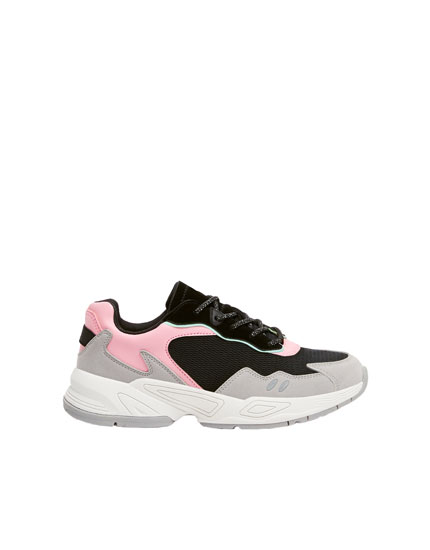 Farbiger Chunky-Sneaker
