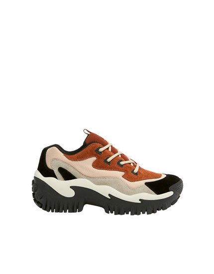 Sneakers mode tricolores