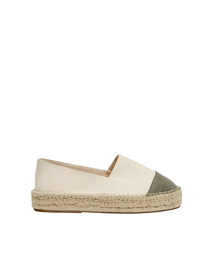 Espadrilles with toecap