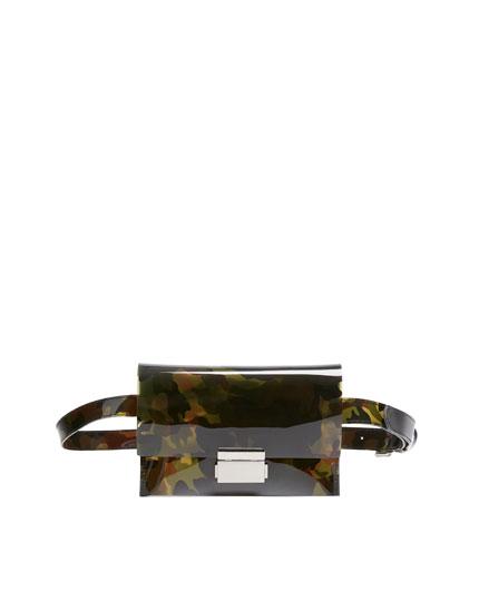 Vinyl camouflage belt bag