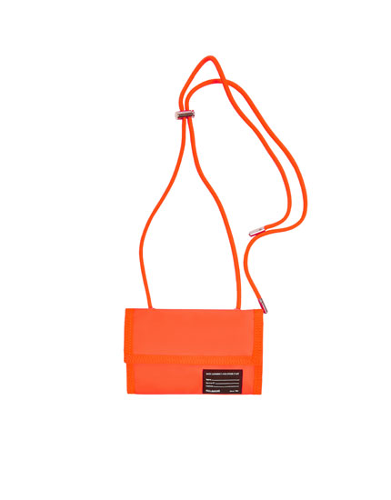 Orange crossbody purse