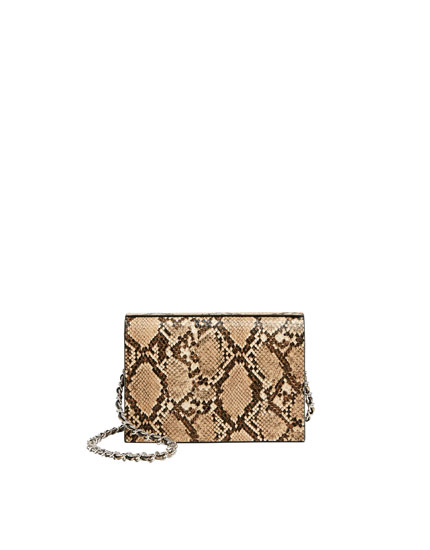 Basic animal print crossbody bag