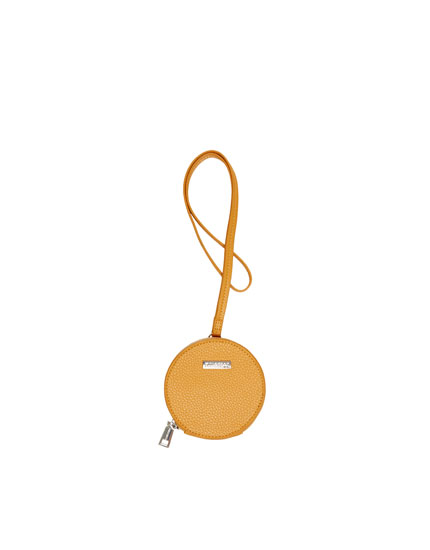 Round yellow purse