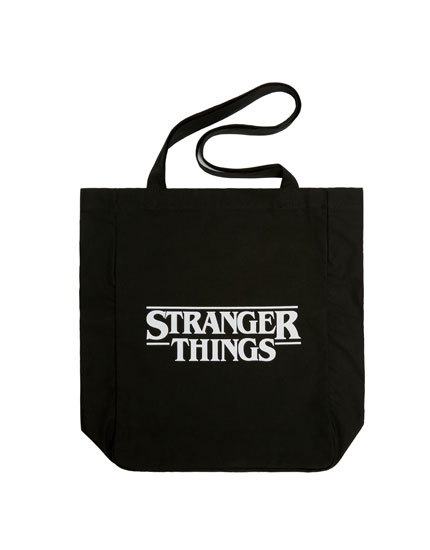 "Black ""Stranger Things"" tote bag"