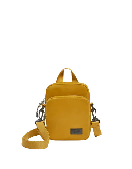Mustard yellow multi-purpose crossbody bag