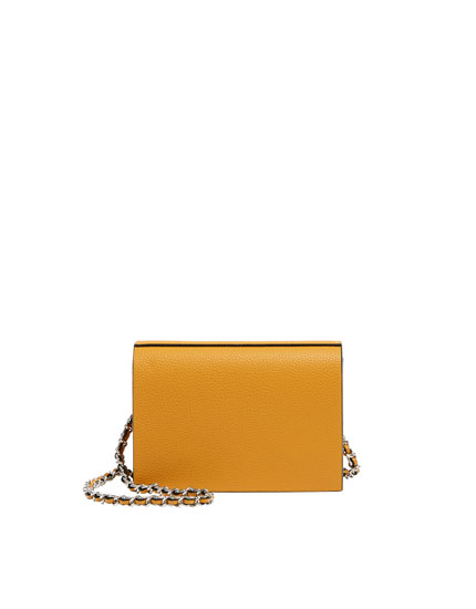 Basic mustard yellow crossbody bag