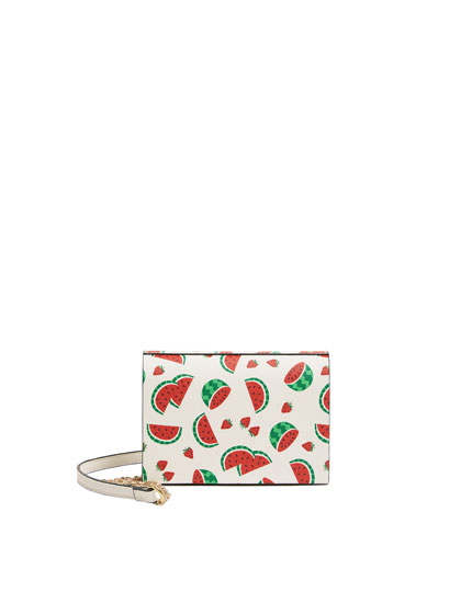 Watermelon print crossbody bag