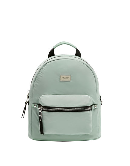 Green urban backpack
