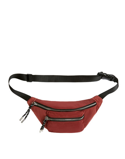 Maroon belt bag
