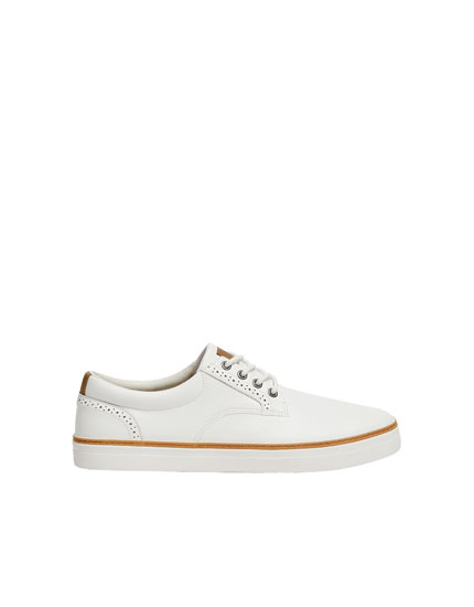 White die-cut urban trainers