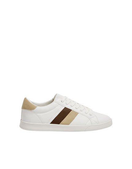 White trainers with stripe