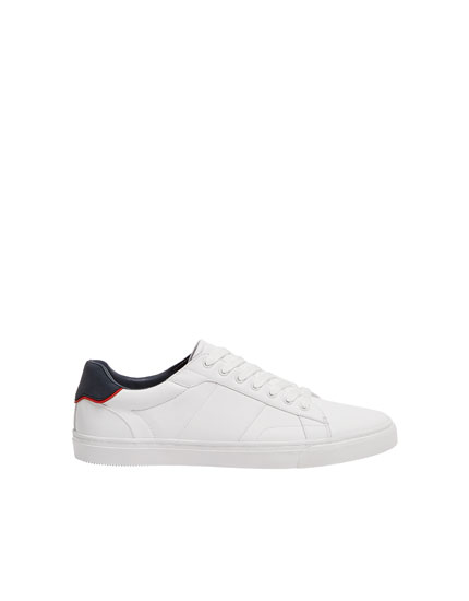 White trainers with heel detail