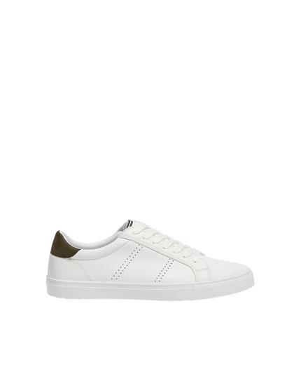 White die-cut trainers