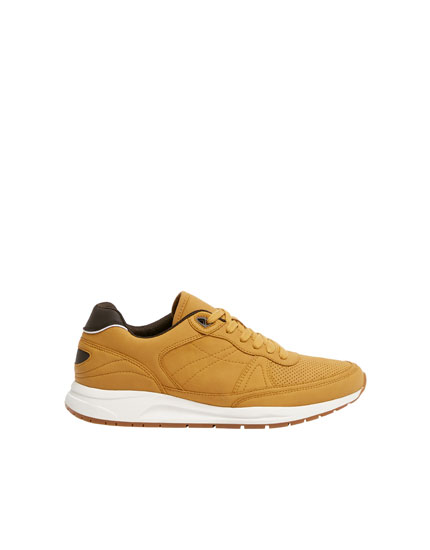 Mustard yellow urban trainers