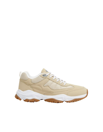 Beige urban trainers