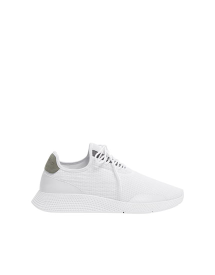 White trainers with side details