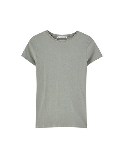Basic T-shirt med korte ærmer