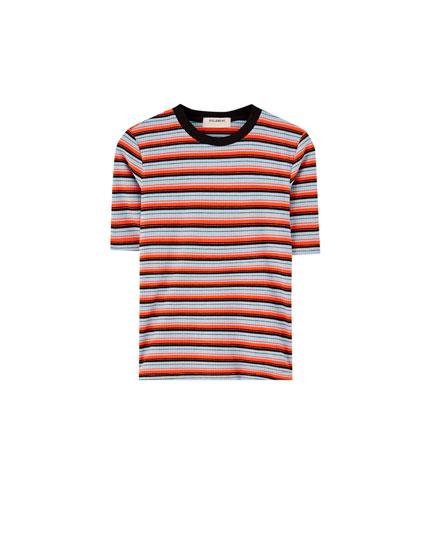 Rayas Corta Manga Camiseta Rayas Camiseta BqvpxwxEH 5eabf173a40