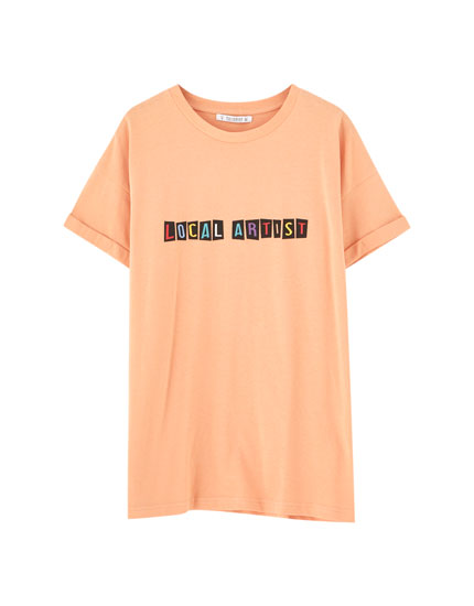 Oversized text T-shirt