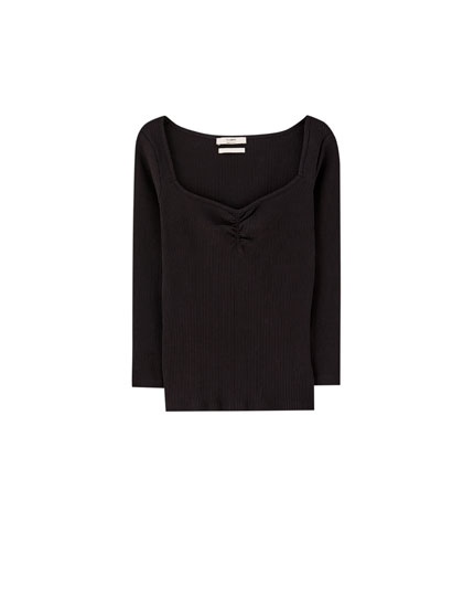 Boatneck 3/4 sleeve T-shirt