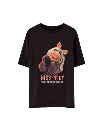 T-shirt Miss Piggy manches courtes