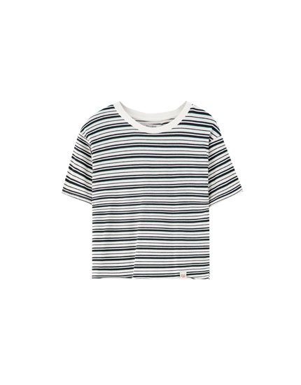 Basic multi-striped T-shirt