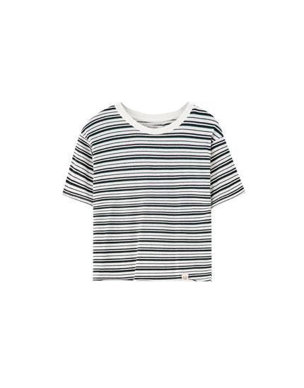 T-shirt basic multi-rayures