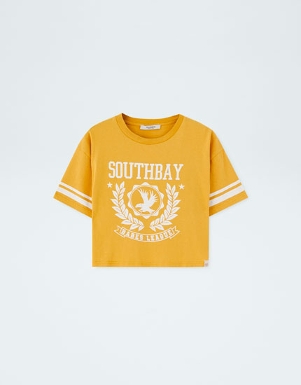 Mustard yellow varsity T-shirt