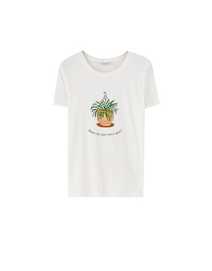 Short sleeve plant T-shirt