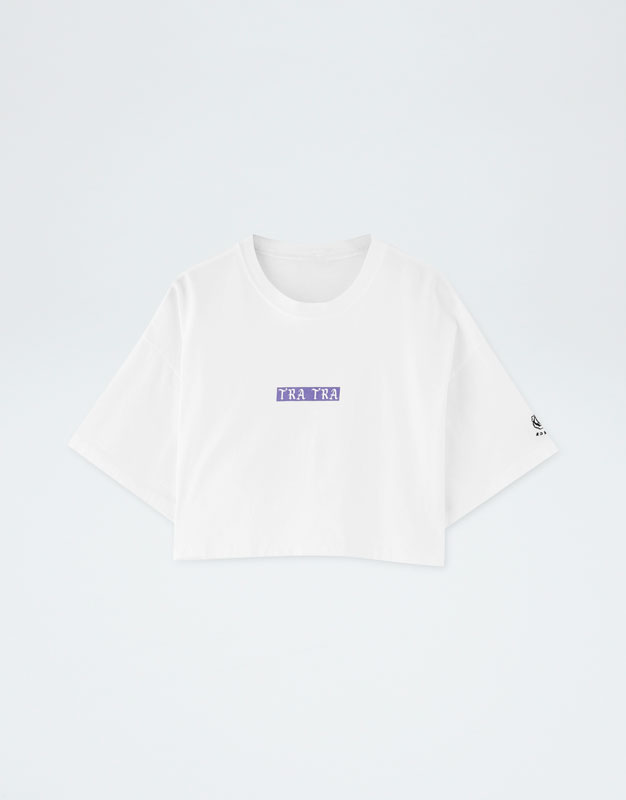 Pull&Bear By Rosalía Cropped T Shirt by Pull & Bear