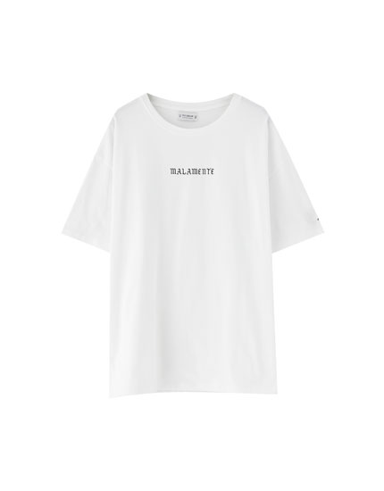 Pull&Bear by Rosalía 'Malamente' oversized T-shirt