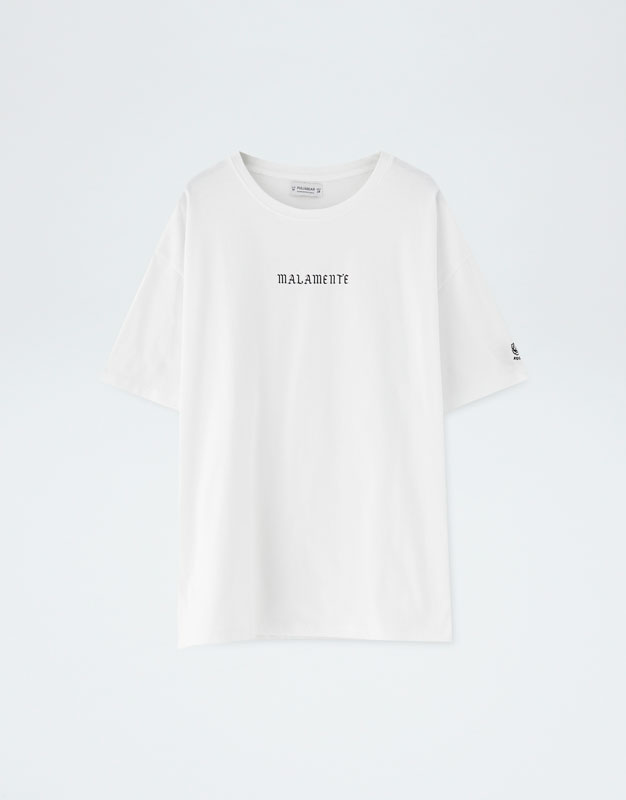 Pull&Bear By Rosalía 'malamente' Oversized T Shirt by Pull & Bear