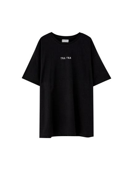Zwart T-shirt Pull&Bear by Rosalía