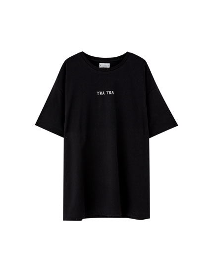 Pull&Bear by Rosalía black T-shirt