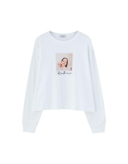 Langærmet t-shirt Pull&Bear by Rosalía
